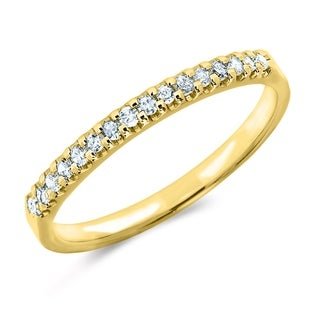 Amore 18K Yellow Gold 0.125 CT TDW Shared Prong Diamond Ring - White I-J