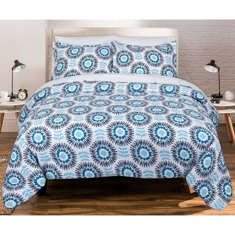 Nouvelle Home Scandi Floral Cotton Comforter Set