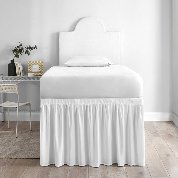 Bed Skirt Twin XL (3 Panel Set) - White