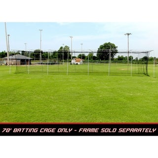 Cimarron Sports 70' x 14' x 12' No 24 Twisted Poly Batting Cage Net with Free 4 x 6 Vinyl Backstop