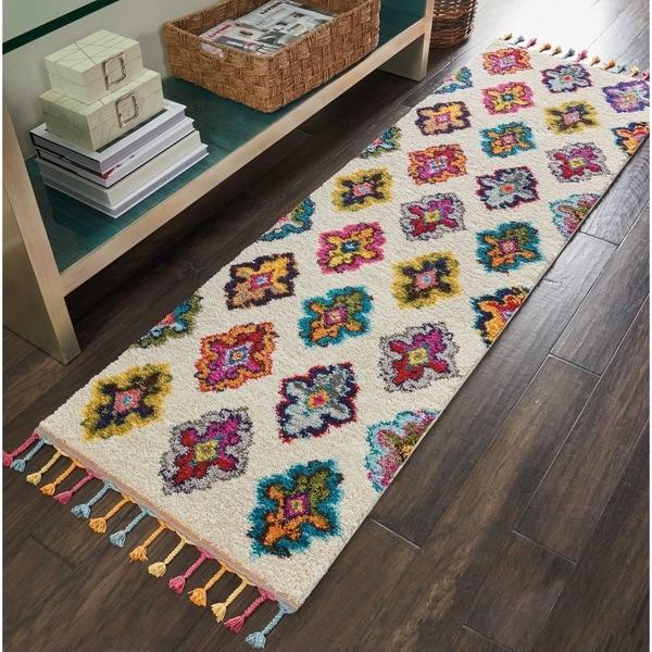 Shop Nourison Moroccan Casbah Ivory/Multicolor Tassel
