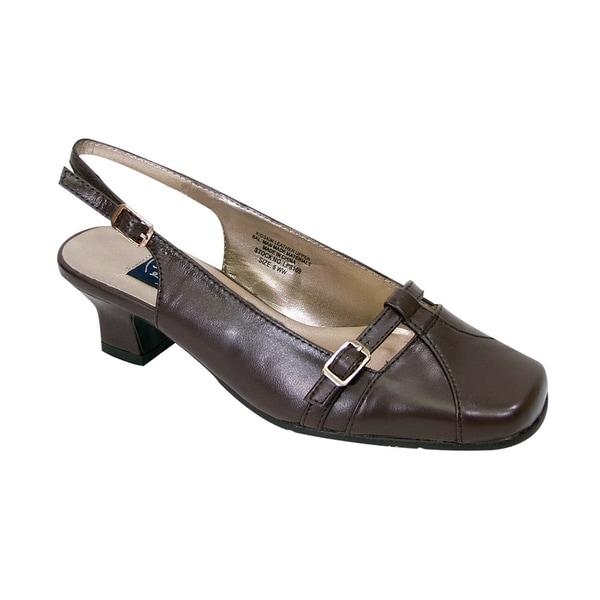 55ffad2de Shop PEERAGE Louisa Women Extra Wide Width Low Heel Slingback Buckle ...