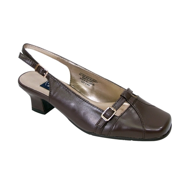 9826f6d6b401 Shop PEERAGE Louisa Women Extra Wide Width Low Heel Slingback Buckle ...