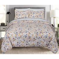 Nouvelle Home Floral Spatter Cotton Comforter Set
