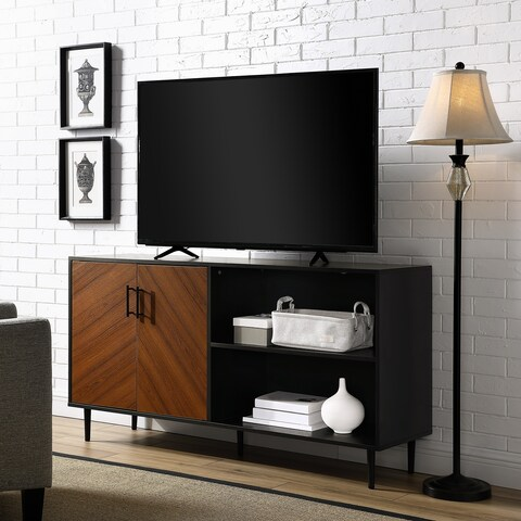 Carson Carrington Trosa 58-inch Bookmatch Asymmetrical Console
