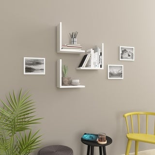 Wesson Modern Wall Shelf, 3-Piece Set