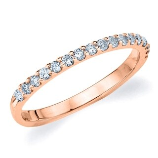 Amore 18K Rose Gold 0.25 CT TDW Shared Prong Diamond Ring (More options available)