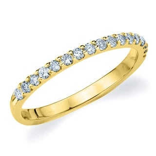 Amore 18K Yellow Gold 0.25 CT TDW Shared Prong Diamond Ring (More options available)