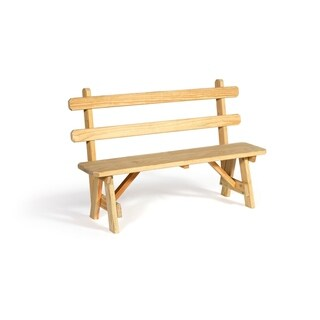 "Pressure Treated Pine 66"" Traditional Picnic Bench with Back"