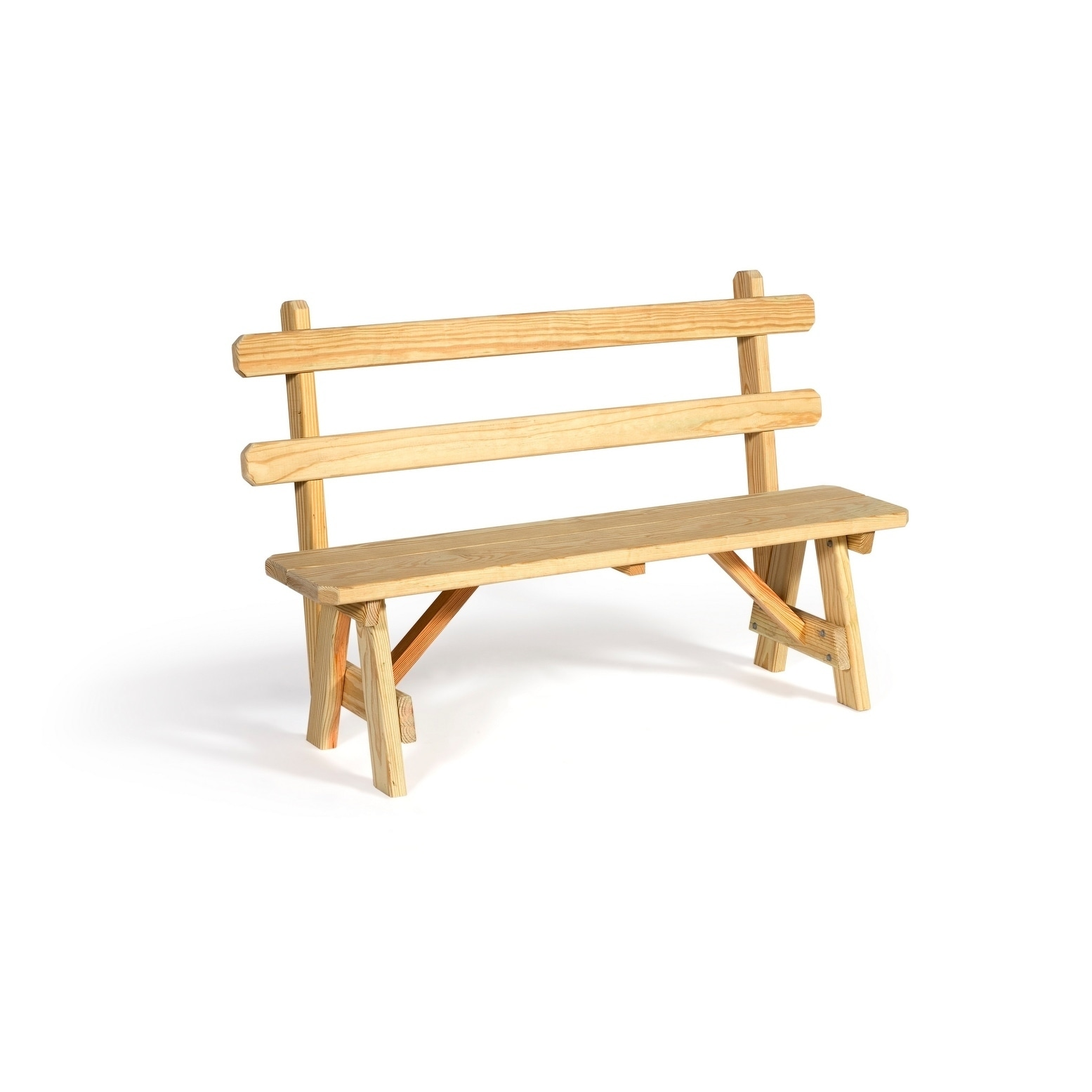 Awe Inspiring Pressure Treated Pine 54 Traditional Picnic Bench With Back Spiritservingveterans Wood Chair Design Ideas Spiritservingveteransorg