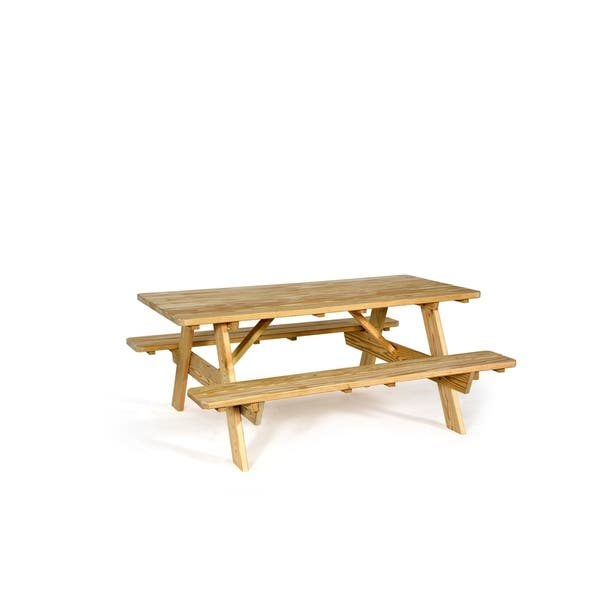 Excellent Shop Pressure Treated Pine 3 X 6 Picnic Table With Squirreltailoven Fun Painted Chair Ideas Images Squirreltailovenorg