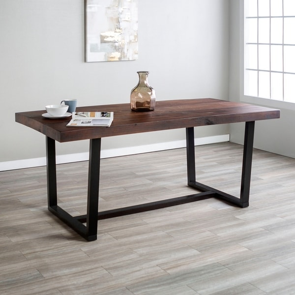 Rustic Farmhouse Distressed Solid Wood Dining Table   Mahogany 72 Inch