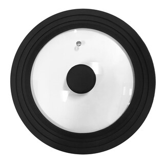 Elite ESG-100 Tempered Glass Lid with Black Silicone Trim