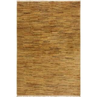 Gabbeh Bennie Tan/Rust Wool Area Rug (4'0 x 5'9) - 4 ft. 0 in. x 5 ft. 9 in.