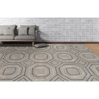 Willow Wool and Silk Handmade Area Rug - 7' 6 x 9' 6
