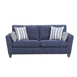 Simmons Upholstery Prelude Navy Queen Sleeper