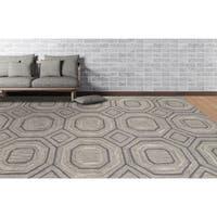 Willow Handmade Grey Wool Blend Area Rug - 8' x 11'