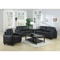 Jasmine Casual Black 3-piece Living Room Set