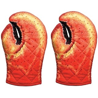 Boston Warehouse Lobster Claw Novelty Kitchen Mitts, Set of 2