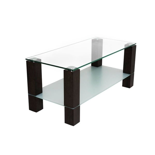 Shop Duo Wood Glass Tv Stand On Sale Free Shipping Today