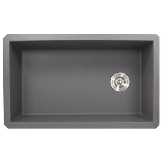 Highpoint Collection 32-inch Granite Composite Sink with Side Drain