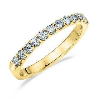 Amore 14K Yellow Gold 0.50 CT TDW Shared Prong Diamond Ring (More options available)