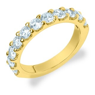 Amore 18K Yellow Gold 1.50 CT TDW Shared Prong Diamond Ring