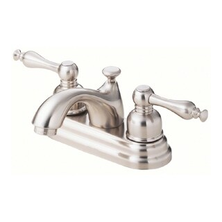 Danze Sheridan Two Handle Centerset Lavatory Faucet, 1.2gpm D301155BN Brushed Nickel - Silver