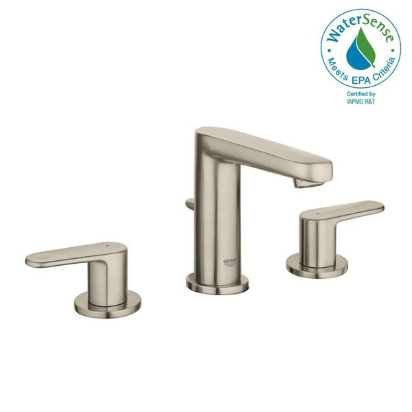 """Grohe Europlus 8"""" Widespread Two-Handle Bathroom Faucet S-Size 20302ENA Brushed Nickel"""
