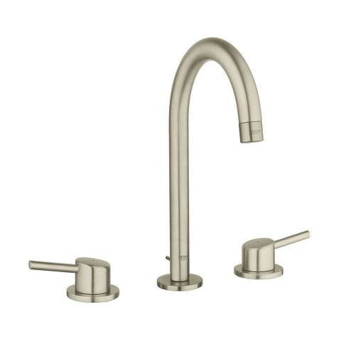 "Grohe Concetto 8"" Widespread Two-Handle Bathroom Faucet L-Size 20217ENA Brushed Nickel"