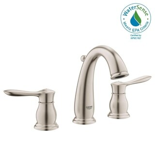 """Grohe Parkfield 8"""" Widespread Two-Handle Bathroom Faucet 20390ENA Brushed Nickel - Silver"""
