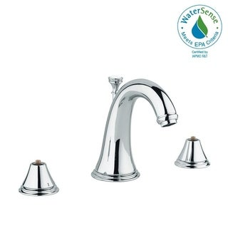 """Grohe Geneva 8"""" Widespread Two-Handle Bathroom Faucet 2080100A StarLight Chrome"""