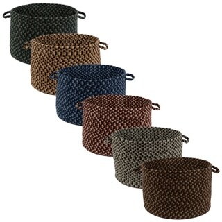 "Jamestown 18"" x 12"" Round Braided Basket - 12 x 18 inches (5 options available)"