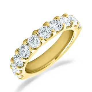 Amore 18K Yellow Gold 2.0 CT TDW Shared Prong Diamond Ring (More options available)