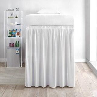 Extended Dorm Sized Bed Skirt (3 Panel Set) - White