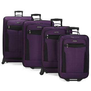 Travel Select 4-Piece Softside Spinning and Rolling Luggage Set (2 options available)