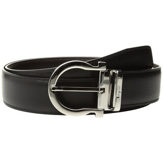 Ferragamo Men's Adjustable Reversible Leather Belt