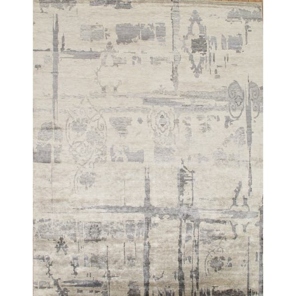 Hand Knotted Bamboo Silk Area Rug