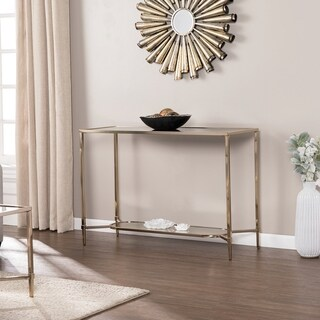 Garrison Champagne and Black Art Deco Console Table