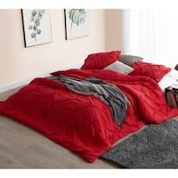 BYB Cherry Red Pin Tuck Comforter