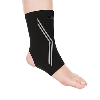Copper Infused Ankle Support Compression Sleeve- Unisex Ankle Compress Bluestone