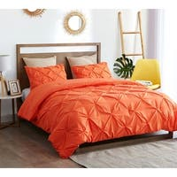 BYB Orange Pin Tuck Comforter