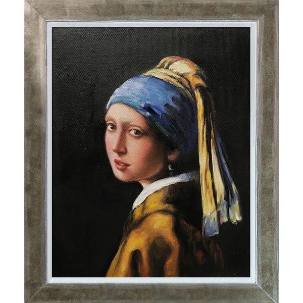 Johannes Vermeer 'Girl with a Pearl Earring' Hand Painted Oil Reproduction