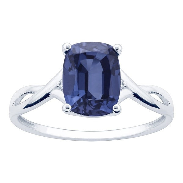 10K White Gold 2.95ct TW Tanzanite and Diamond Ring - Purple. Opens flyout.