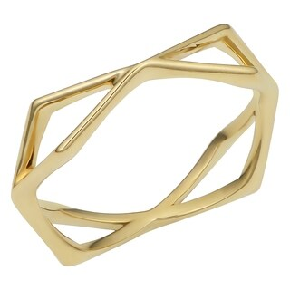 Fremada 14k Gold High Polish Geometric Ring (yellow gold or rose gold)