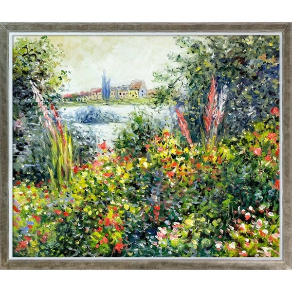 Claude Monet 'Flowers at Vetheuil' Hand Painted Oil Reproduction