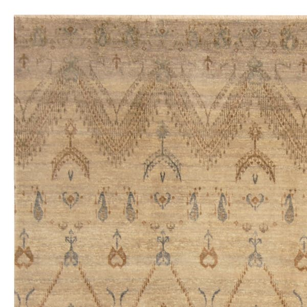 Handmade One Of A Kind Ikat Wool Rug India 8 X 10 On Sale Overstock 21892367