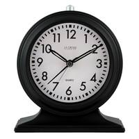 La Crosse Clock 617-3014 Silent Sweep Black Mantel Alarm Clock