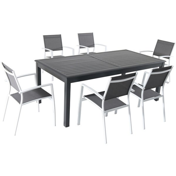 Archibald 7 Piece White Dining Set: Shop Hanover Dawson 7-Piece Dining Set With 6 Sling Chairs