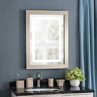 Vivien 32-inch Dimmable LED Mirror - Brushed Nickel Frame